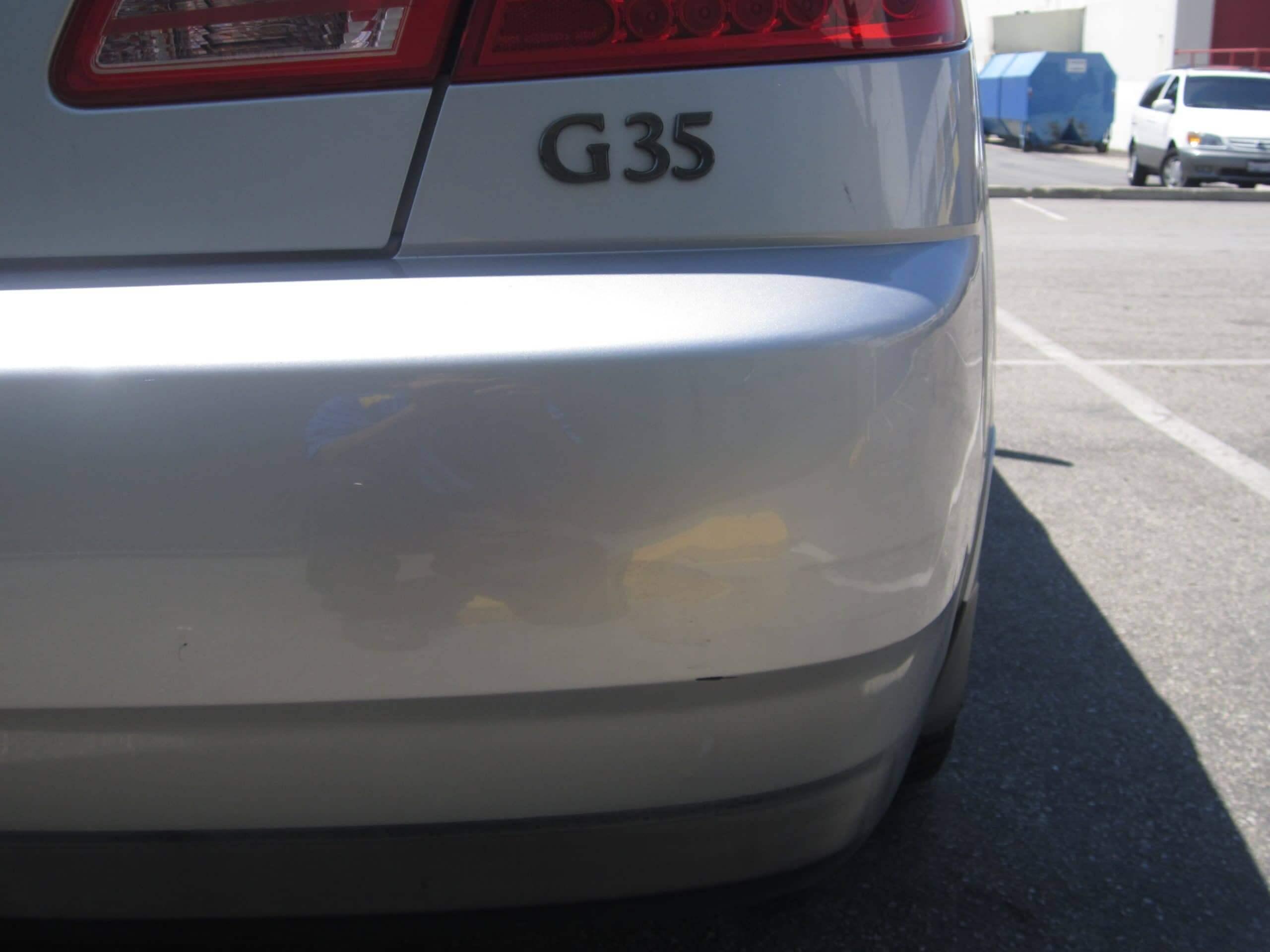 G35 Dent Removed