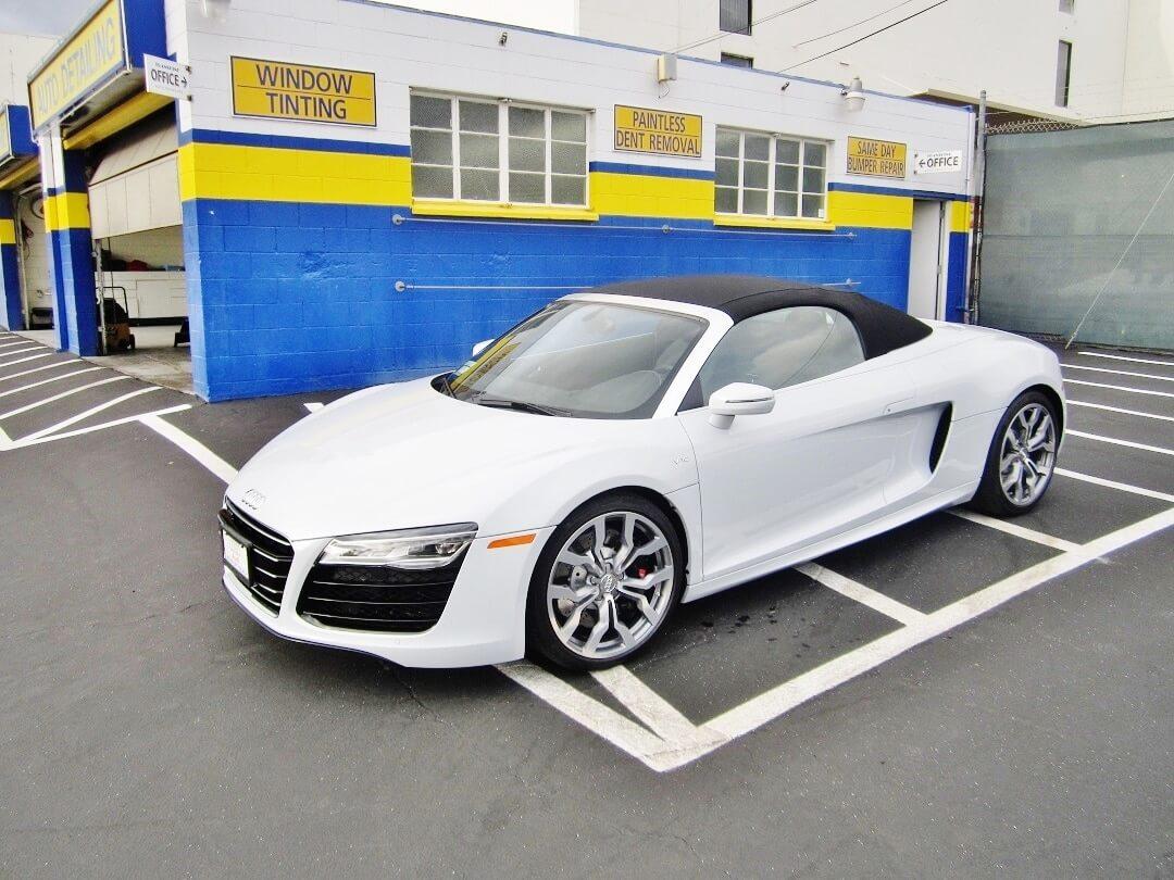 Auto Detailed Car White