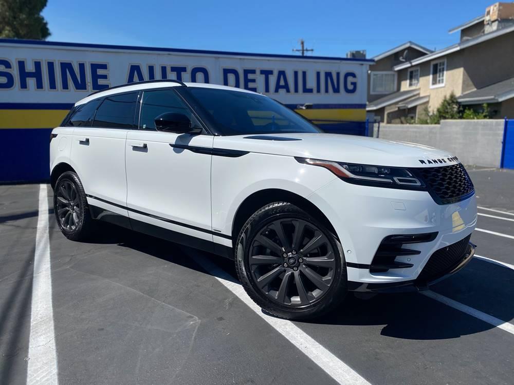 White Range Rover with Ceramic Coatings